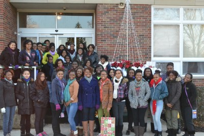 Kimbrough Hall ladies on their way to do community service